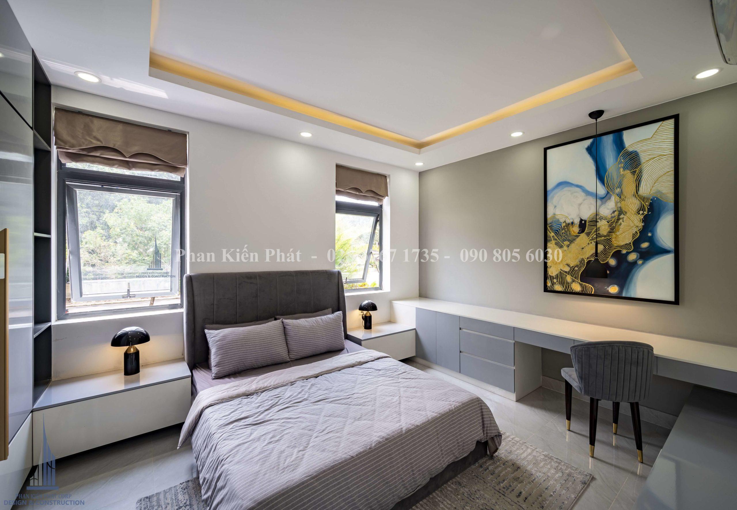 Hoan Thanh Thi Cong Noi That Biet Thu Hien Dai Dep Binh Phuoc 31 Tkxdnd