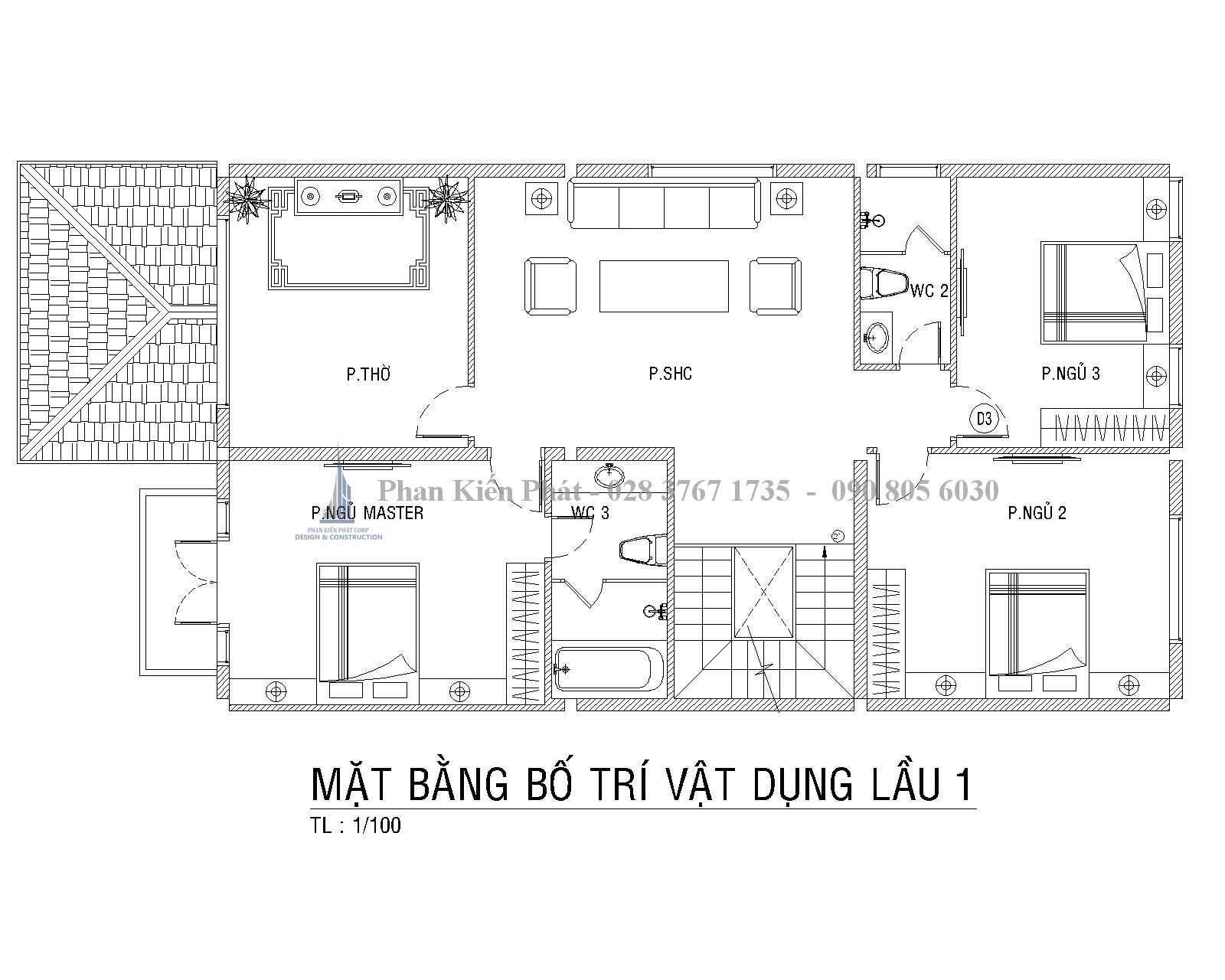 Bo Tri Mat Bang Lau 1 Biet Thu Pho Tkxd