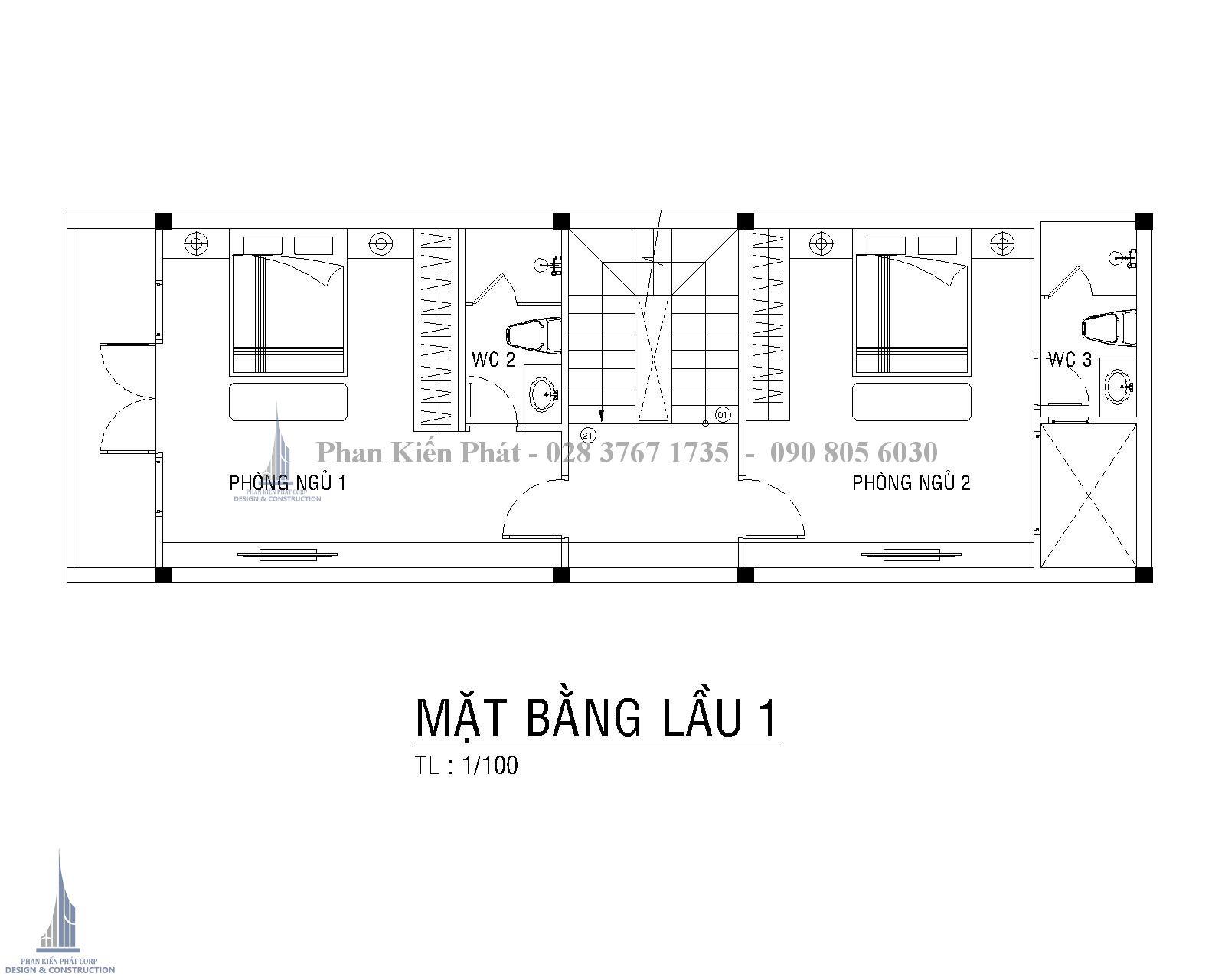 Mat Bang Cong Nang Lau 1 Nha Ong Co Dien Dep Anh Hoa