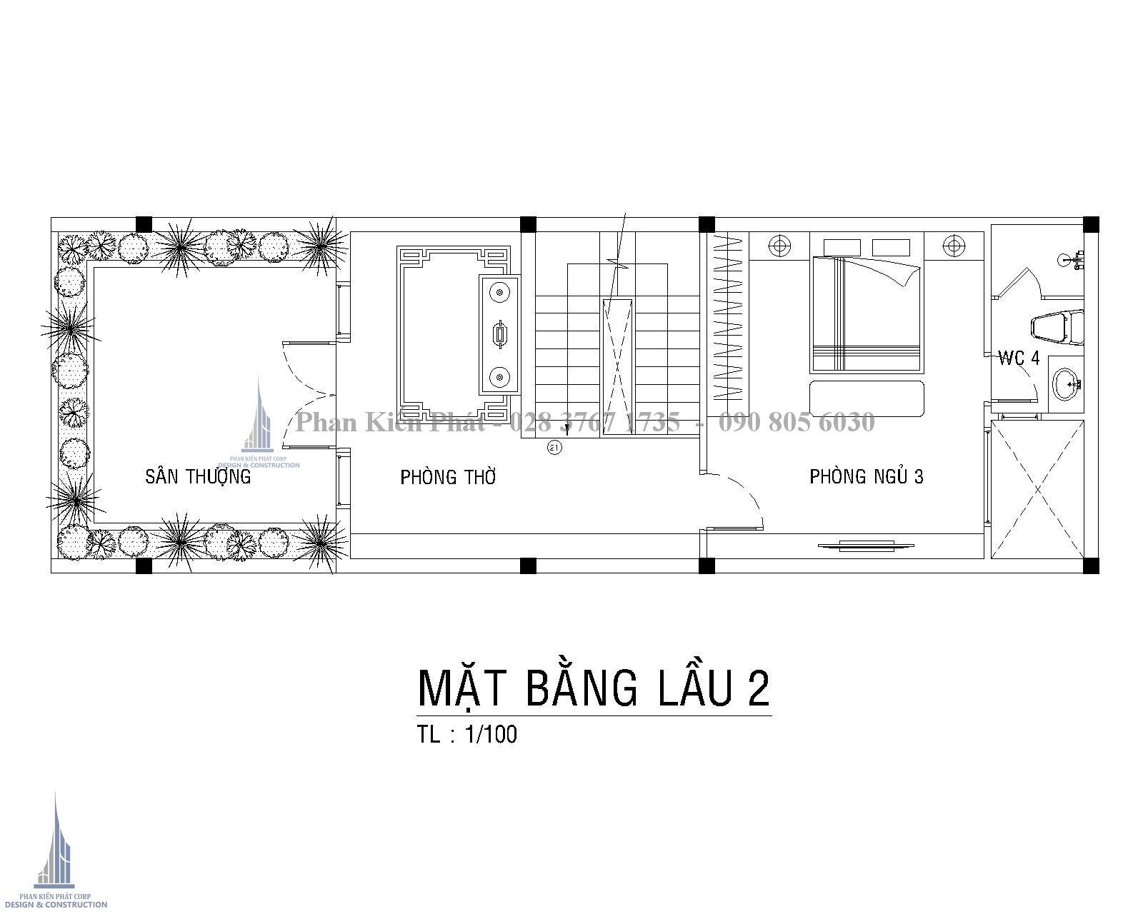 Mat Bang Cong Nang Lau 2 Nha Ong Co Dien Dep Anh Hoa