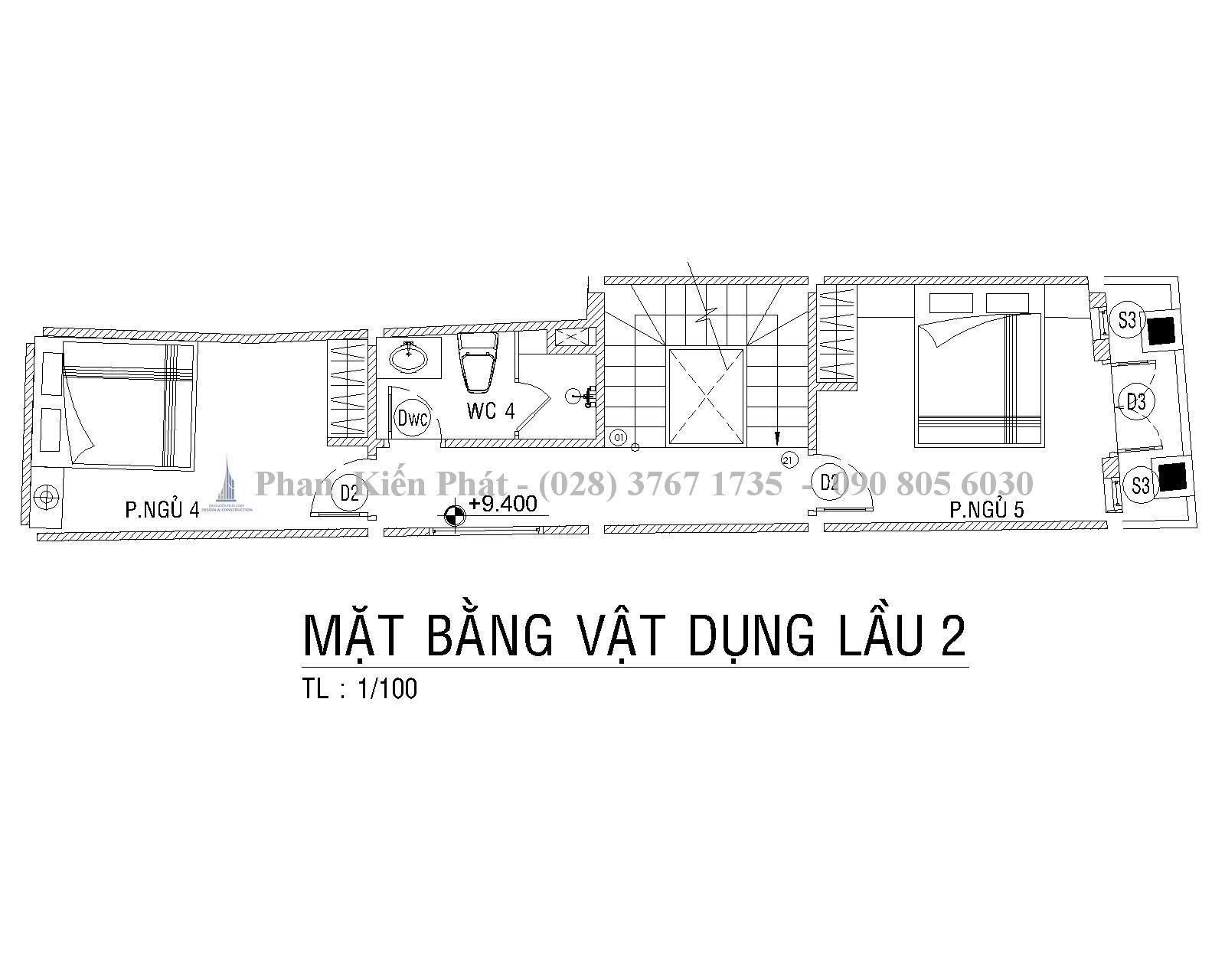 Mat Bang Lau 2 Mau Nha Ong 1 Tret 1lung 3 Lau Hien Dai Anh Tan Dinh 1