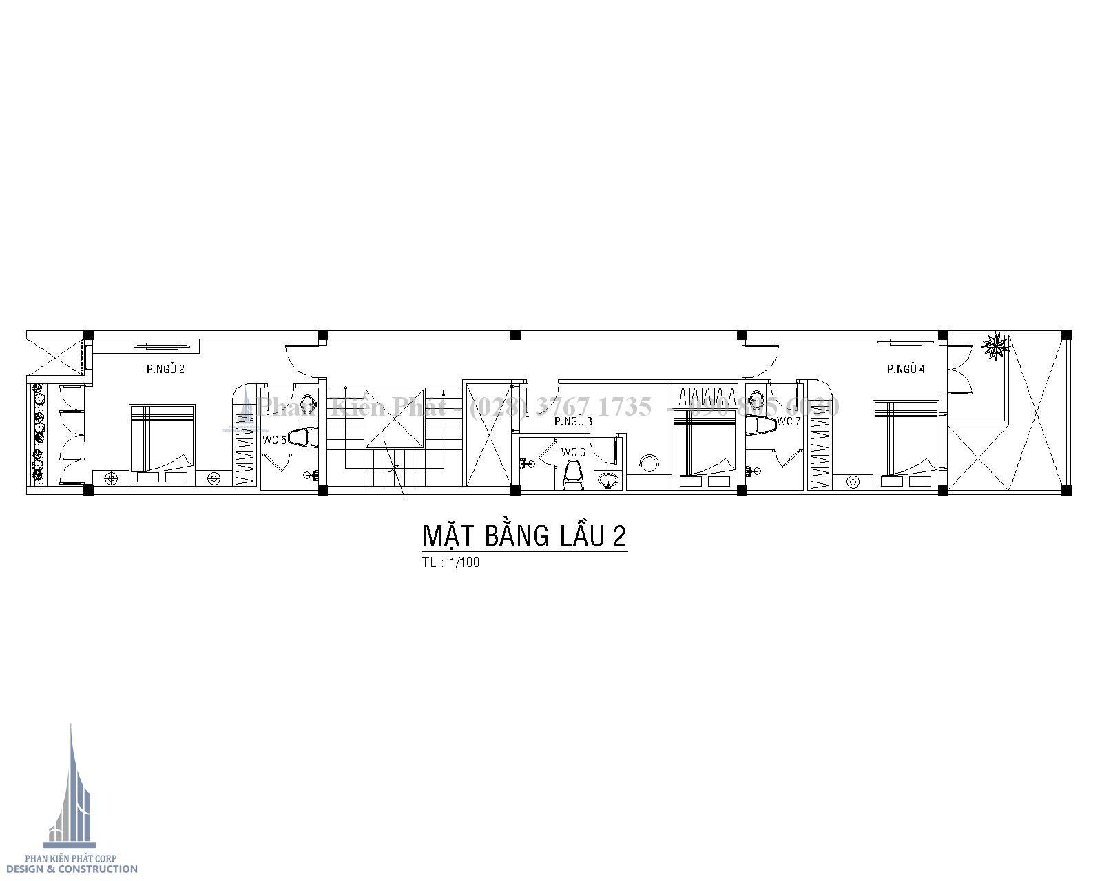 Mat Bang Lau 2 Mau Nha Ong 4 Tang Hien Dai 1 Tret 3 Lau