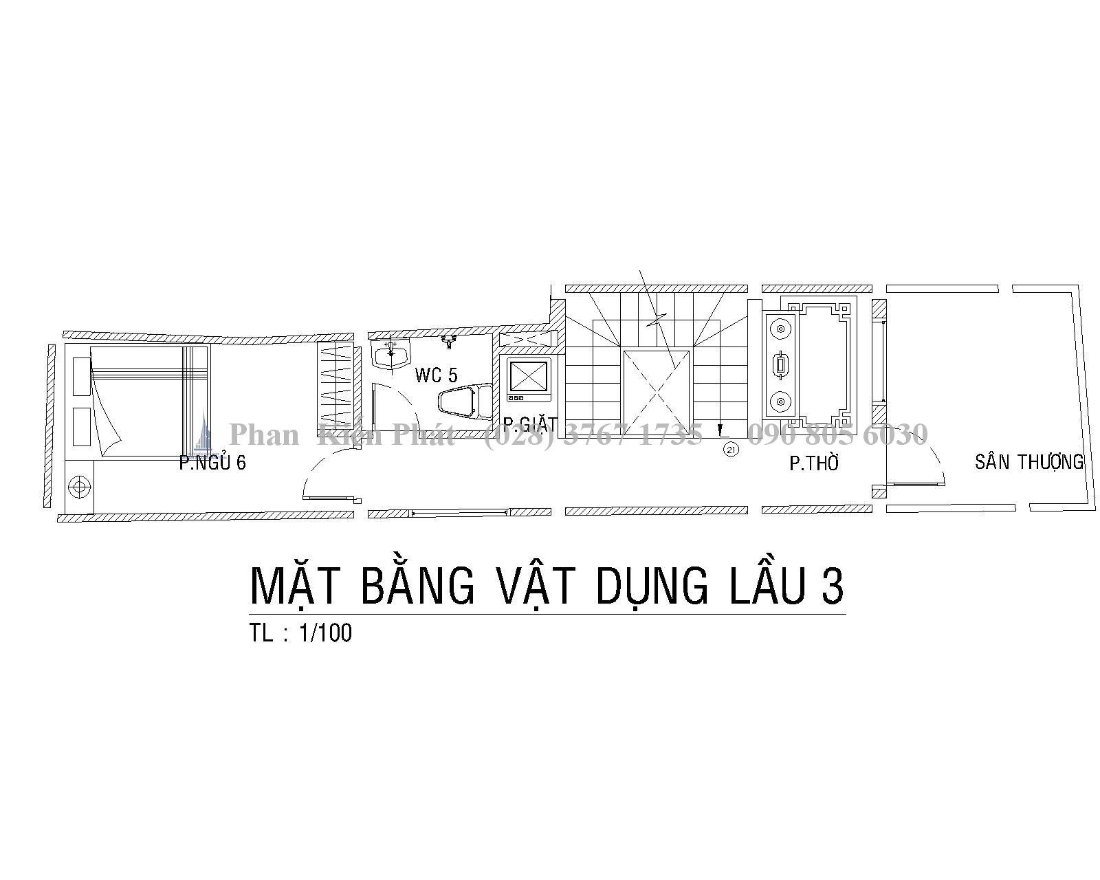 Mat Bang Lau 3 Mau Nha Ong 1 Tret 1lung 3 Lau Hien Dai Anh Tan Dinh 1