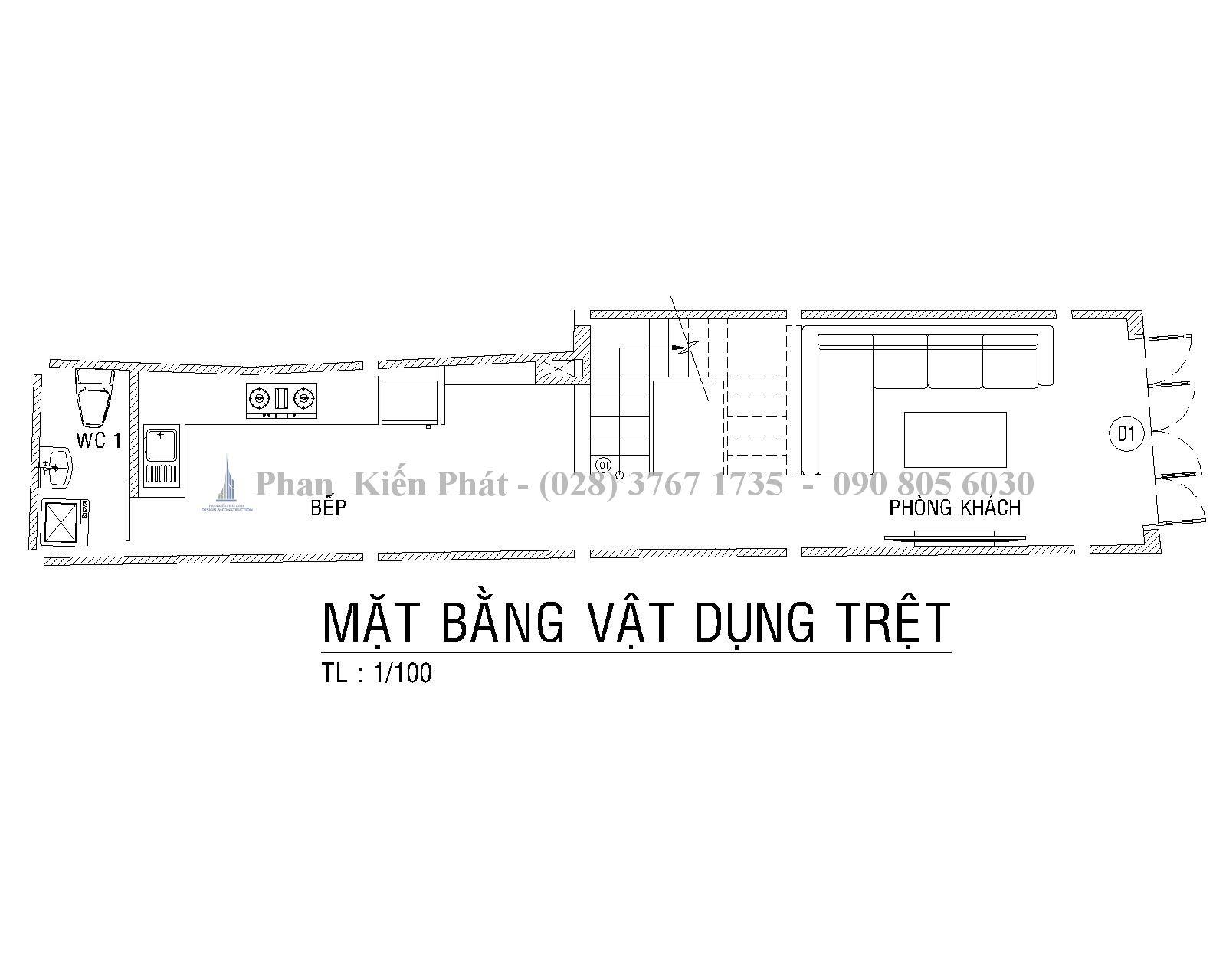 Mat Bang Tret Mau Nha Ong 1 Tret 1lung 3 Lau Hien Dai Anh Tan Dinh 1