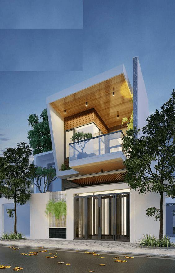 Thiet Ke Nha 2 Tang Don Gian Ben Dep 10-Mẫu xây nhà 2 tầng mái bằng đẹp