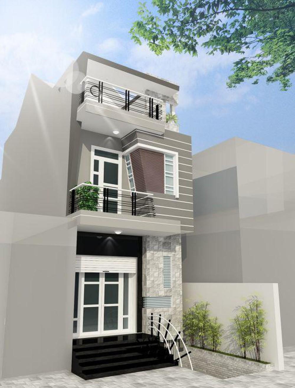 Thiet Ke Nha 2 Tang Don Gian Ben Dep 2 -Thiết kế xây nhà ống 2 tầng mái bằng