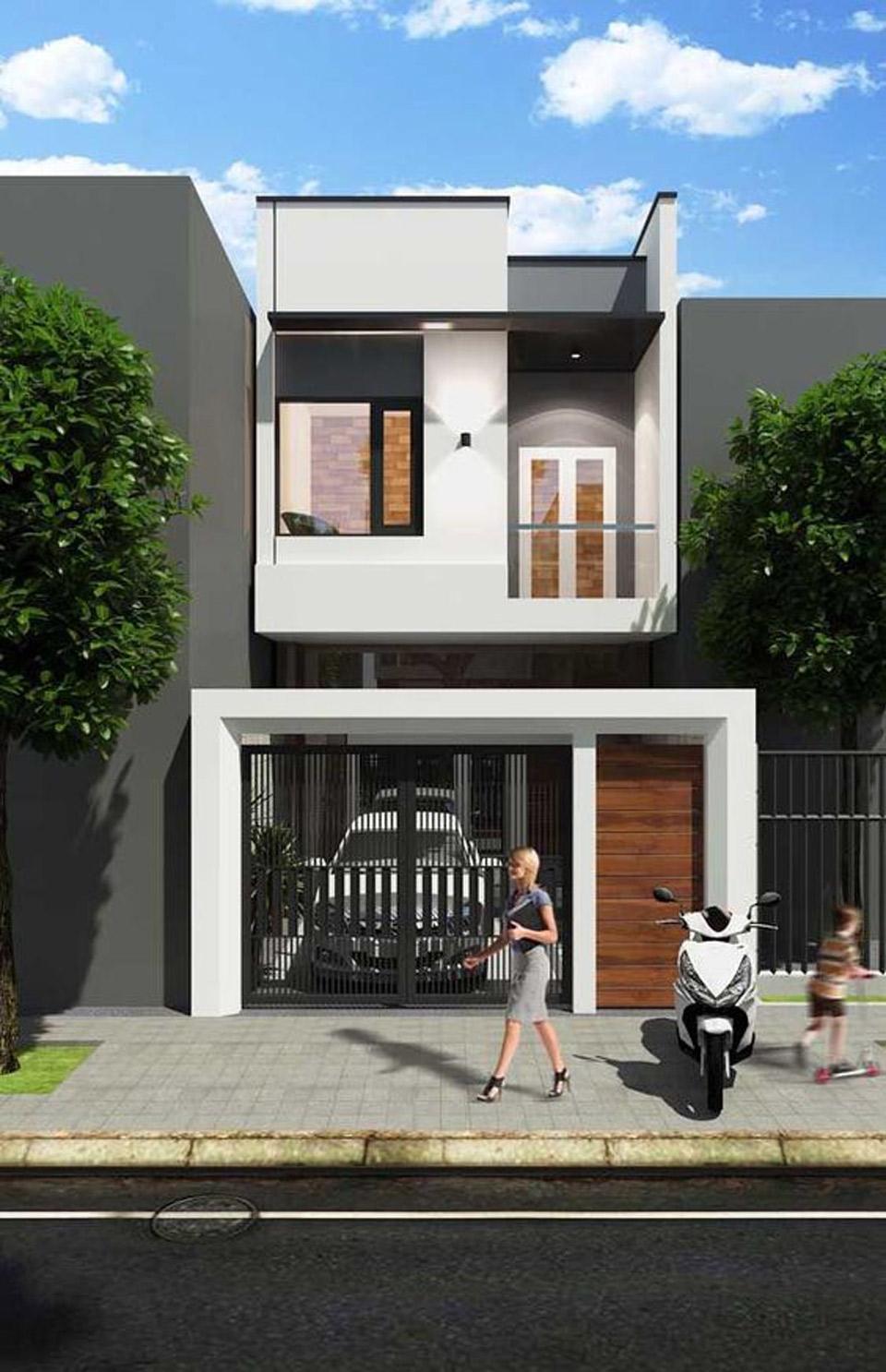 Thiet Ke Nha 2 Tang Don Gian Ben Dep 8-Mẫu xây nhà 2 tầng mái bằng đẹp