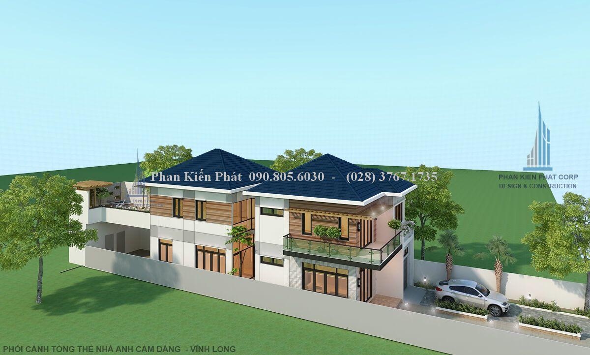 Thiet Ke Nha Pho 1 Tret 1 Lau View 5