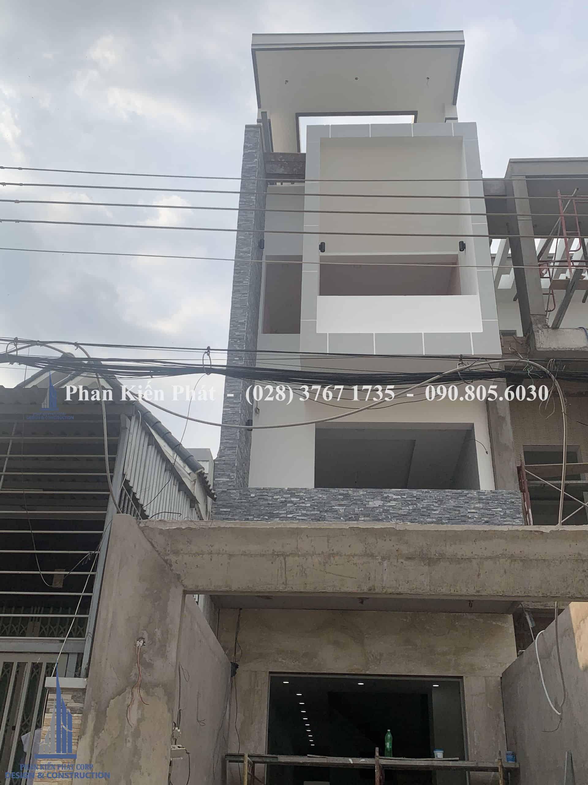Thiết kế thi công xây dựng nhà phố 4 tầng hiện đại tại Cà Mau