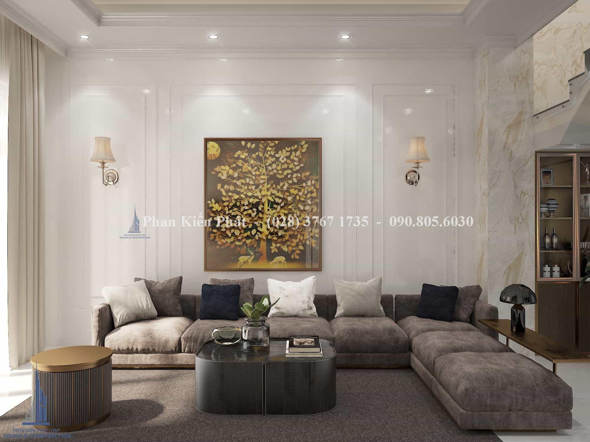 Thiết kế biệt thự mái thái 3 tầng tại Phan Thiết