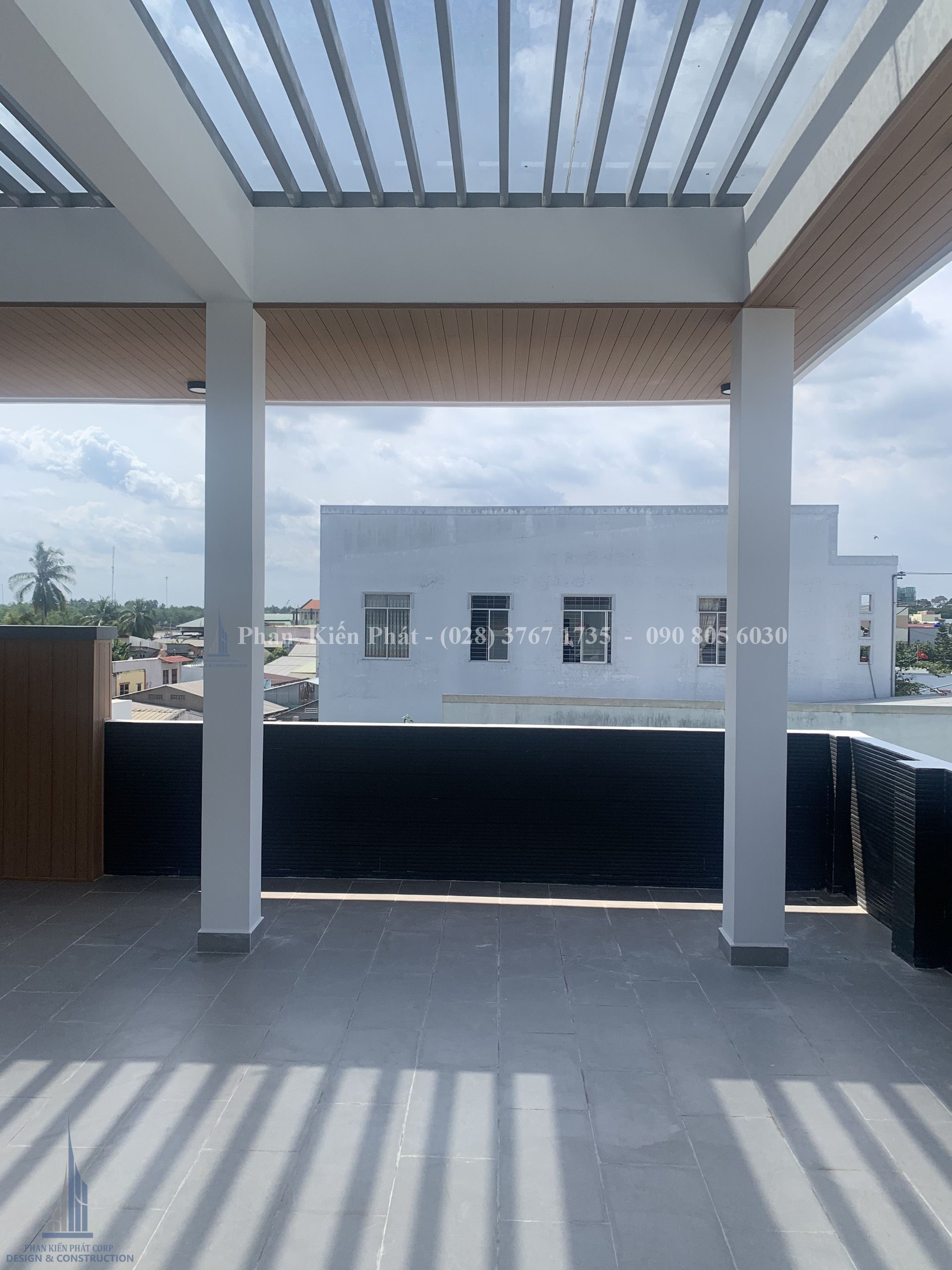 Thi công biệt thự trọn gói sân vườn 3 tầng phong cách hiện đại tại Bến Tre