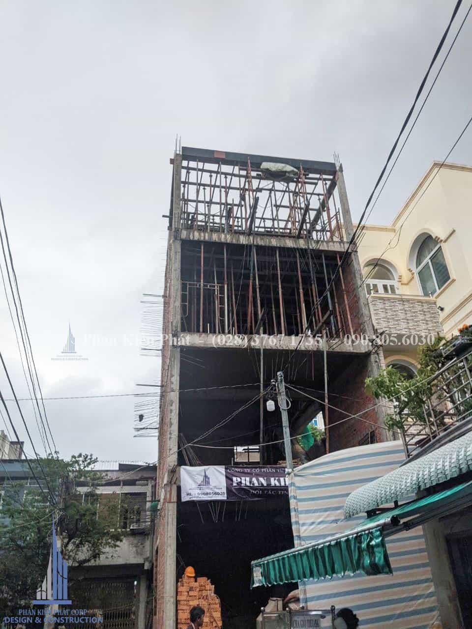 Thi công nhà phố 4 tầng tại Cần Thơ