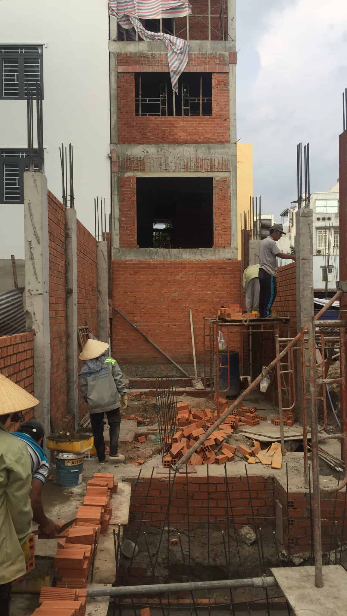Thi công xây dựng nhà tân cổ điển nhà anh Tuấn - Tân Phú